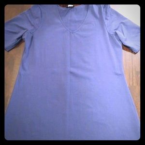 Navy blue fitted tunic T-shirt